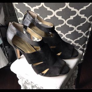 Alfani suede peep toe heels. Sz. 9.5.